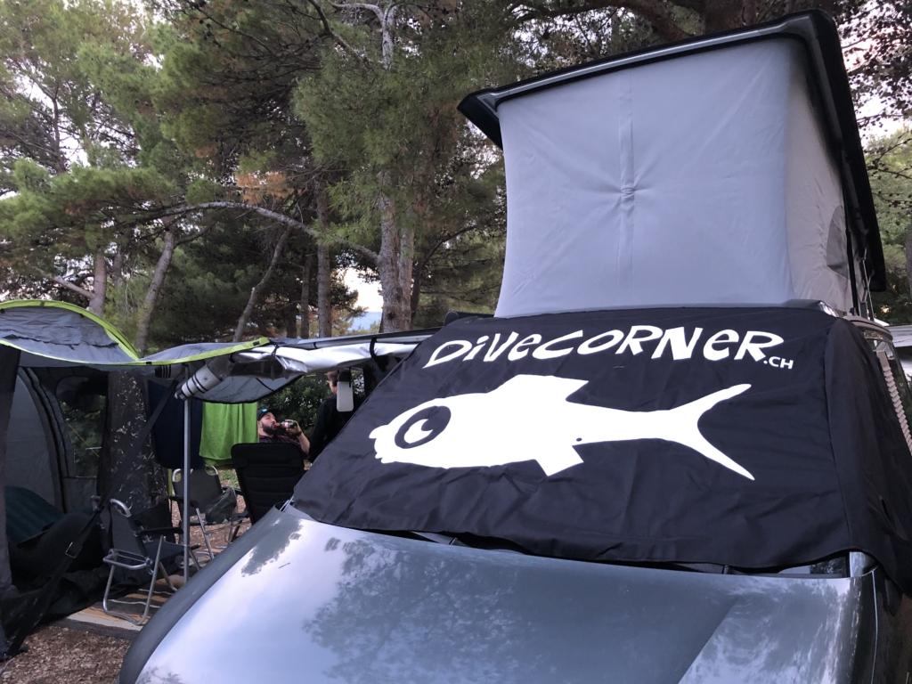 Camping und Tauchen