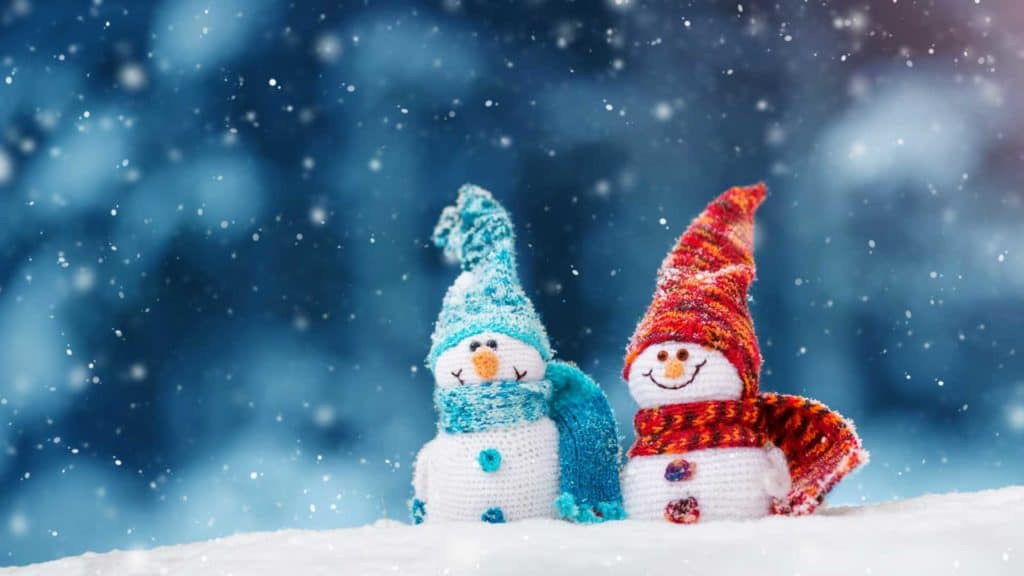 Zwei Schneemänner